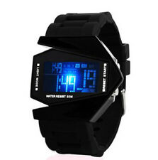Men's Fashion Black Stainless Steel Luxury Sport Digital LED Wrist DIAL Watch