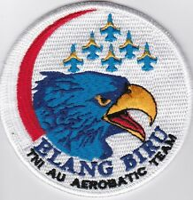Patch ricamate elang Biru Aerobatic Team, Indonesian Air Force, RARO, RARE!