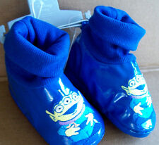 DISNEY STORE PIXAR TOY STORY MONSTERS BLUE ALIEN SLIPPERS/SHOES 12-18 MOS