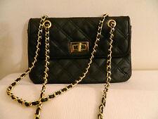 Borsa matelasse nera catena dorata TOPSHOP golden chain black bag