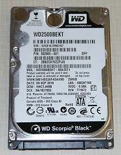 "Western Digital Scorpio Black 250GB  7200RPM 2.5"" SATA Hard Drive"