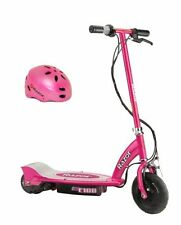 Razor E100 24V Motorized Electric Girls Scooter & Youth Sport Helmet - Pink