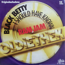 """7"""" 70s ROCK ! RAM JAM Black Betty + I Should Have Known"""