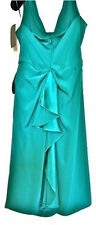 New Fab ALBERTA FERRETTI Emerald Green Halter Neck Silk Dress, sz IT44