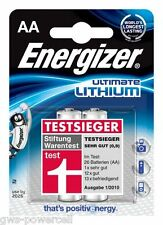2 X Energizer Batteria al Litio AA Mignon lr6 fr6 mp3 Photo 1,5 V l91