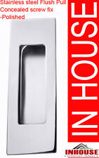 Square Edge Stainless steel Flush pull- concealed screw fix