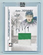TYLER SEGUIN 2009/10 IN THE GAME ITG SUPERLATIVE PROSPECT RC PATCH AUTOGRAPH /40