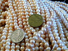 EBAY LOWEST PRICE 6-8MM FRESHWATER PEARL BEADS 37CM 15""