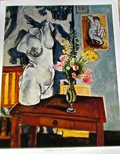 Henri Matisse Poster Plaster Figure, Flowers Offset Lithograph, Unsigned 14x11