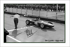 * JIM CLARK * Signed poster of F1 world champ! Perfect present or memorabilia