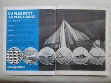 3/1972 PUB AEROSPATIALE CONCORDE AIRBUS A300 CORVETTE FREGATE RALLYE FRENCH AD