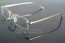 Rimless Glasses Memory Titanium Eyeglass Frame Gold Spectacles optical 8867 Rx
