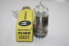 12AU7 MOTOROLLA VINTAGE TUBE WITH TALL PLATES AND CLEAR TOPS - NOS IN BOX