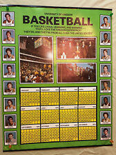 Vintage 1978 Oregon DUCKS Basketball Team POSTER Calendar 20 x 24 Store PROMO
