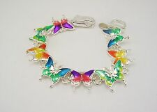 Joan Rivers Enameled Butterfly Bracelet (w/original box, pouch and card)
