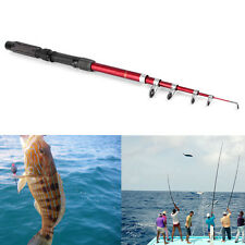 Portable Fishing Pole Tackle Carbon Fiber Spinning Lure Rod 2.1m IP