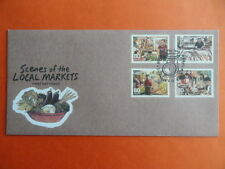 2012 FDC Singapore First Day Cover - Scenes of the Local Markets