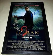 "YIP MAN 2 CAST X2 PP SIGNED & FRAMED 12""X8"" POSTER IP DONNIE YEN SAMMO HUNG"