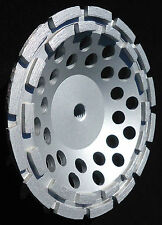 "7"" PRO.DIAMOND DOUBLE ROW CUP WHEEL  28 SEG 4 HARD CONCRETE FIELD STONE GRINDING"