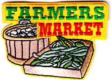 """FARMER'S MARKET"" PRODUCE- IRON ON EMBROIDERED PATCH - FRUIT - VEGETABLES"