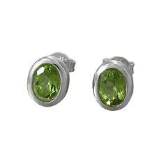 Ohrstecker Peridot Silber frisches Grün (4470)