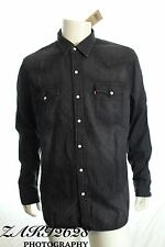 BNWT LEVIS MEN'S DARK GREY DENIM SHIRT 66986-0032 SLIM FIT LONG SLEEVE SIZE XL