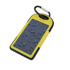 5000MAH Dual-USB Waterproof Solar Power Battery Charger for iPhone 5s 5c 5 4s 4