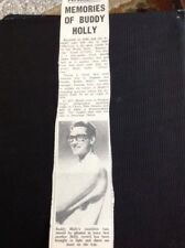 K1-8 Ephemera 1962 Article Buddy Holly Release Reminiscing Review