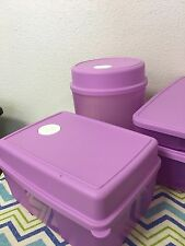 Tupperware Freezer Mates w/ Date Dial Set Of 2 Light Purple 6 And 8 Cups New
