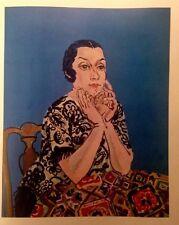 Portrait of MME Dufy  (MINI PRINT) By Raoul Dufy