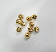 Vintage handmade 22K Gold jewelry beads set of 10 pieces rajasthan india