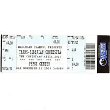 TRANS SIBERIAN ORCHESTRA Concert Ticket Stub DENVER 11/15/14 THE CHRISTMAS ATTIC