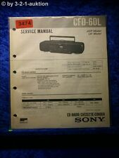 Sony Service Manual CFD 60L Cassette Recorder (#3474)
