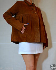 Ladies Brown Brick Jacket Real Suede 3 Buttons Atmosphere Size 18