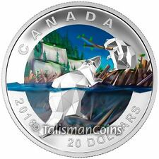 Canada 2016 Geometry in Art #4 Mother Beaver with Baby Kit $20 Pure Silver Proof
