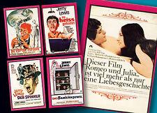 5 AMERICANA POP PARADE SAMMELBILDER UNGEKLEBT 1972 FILMPLAKATE JERRY LEWIS TOP
