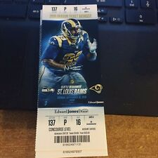 2015 ST LOUIS RAMS VS SEATTLE SEAHAWKS NFL FOOTBALL TICKET STUB 9/13