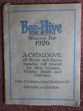 Original 1926 Bee-Hive Shoe Trade Catalogue + leaflets John Cooper Leicester