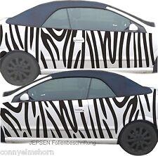 Zebra Autoaufkleber Seitenaufkleber Rolle 150x60cm zum zuschneiden CARTATTOO