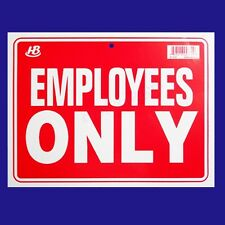 """EMPLOYEES ONLY   Flexible Heavy Plastic Sheet   9""""x12"""" - 1 Sign"""