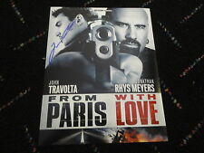 """JOHN TRAVOLTA SIGNED """"FROM PARIS WITH LOVE"""" MOVIE PHOTO AUTOGRAPHED GREASE COA!"""