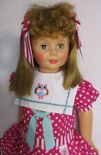 "1959-60 IDEAL 35"" Patti Playpal, Honey Blonde Curly Bangs Hair, Blue Green Eyes"