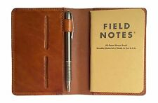 Full Grain Leather Composition Cover Journal for Field Notes Notebooks Saddle