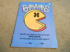 #58 BANANAS childrens magazine PACMAN