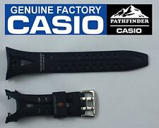 CASIO Original SPW-1000 SEA PATHFINDER 16mm Navy Blue Rubber Watch BAND Strap