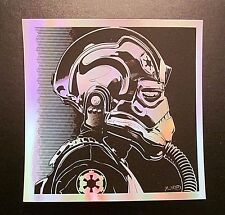 Star Wars Tie Pilot Foil Screen Print Force Awakens Joshua Budich not Mondo