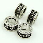 4 PCS 925 Sterling Silver 4x7mm Celtic Vintage Cross Bead Spacer WSP182X4