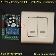 AC 220V 2 CH Way Relay Remote Switch Contact NO COM NC RF Wireless Switch