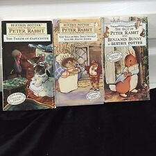 The World of Peter Rabbit & Friends Beatrix Potter 3 VHS set 1993 Collector's Ed