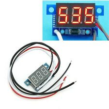 Mini Red LED DC 0-10A 3 Digital Panel Ammeter Amp Ampere Meter with 2 Wire